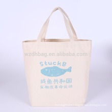Eco-Friendly Reusable Printed Natural Color Grocery Cotton Canvas Shopping Tote Bag For Promotion