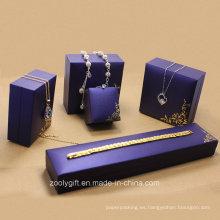 Caja de joyería de papel especial de púrpura real fijada