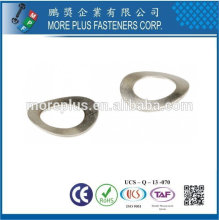 Taiwan Stainless Steel 18-8 Copper Brass Aluminum Curved Washer Curved Spring Washers Custom Curved Washers