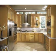 Cabinet de cuisine en bois massif de luxe en forme de ...