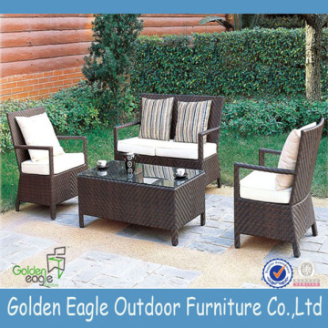 Leisure patio rieten meubels 4 stks tuin rotan set