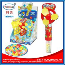 Heißer Verkauf Sommer Cute Kunststoff Mini Fan Spielzeug mit Süßigkeiten