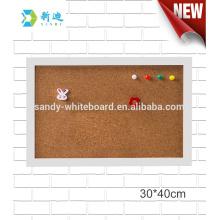 """Mini panneaux de liège décoratifs tableau cadre blanc 30 * 40cm / 11.8 * 15.7 """""""