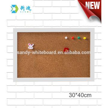 """mini decorative cork boards white frame board 30*40cm/11.8*15.7"""""""