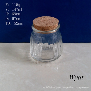 150ml Glass Pudding Jar 5oz Glass Yogurt Milk Jar Glass Dairy Food Jar Wholesale