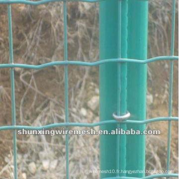 Usine de clôture de maille en fil de fer revêtu de PVC