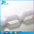 Polycarbonate twin wall uv protected pc hollow sheets plastic roofing material