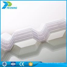 toiture en polycarbonate en carton ondulé