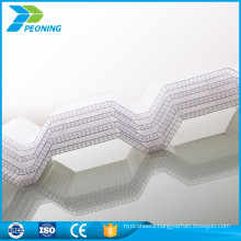 colored transparent pc corrugated plastic sheet for sale