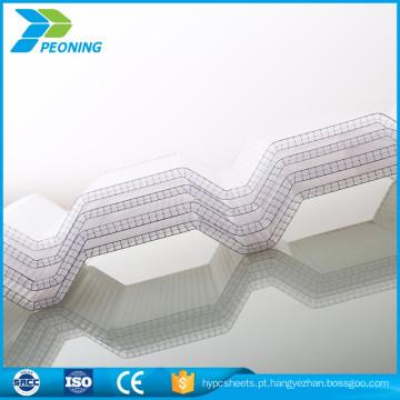 Folha de policarbonato ondulado cobertor solar