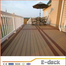 Trit baixo custo maintance reclamied wpc de madeira de plástico palete composto decking chão