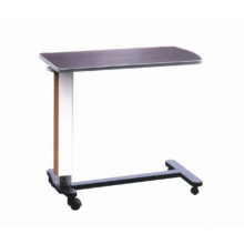 Adjustable Hospital Steel Overbed Dinner Table (XH-O-6)