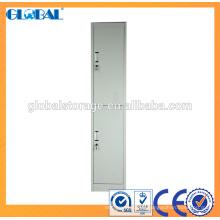 Taquillas metálicas / armario gris metálico con recubrimiento de polvo / 2 puertas