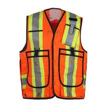 Gilets réfléchissants d'avertissement de sécurité routière, vêtements réfléchis pour la construction de routes