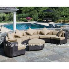 Ensemble de canapé en résine pour patio Ensemble d'ameublement Rattan Wicker Resort