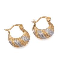 Mode Simple Ventes Chaudes Multicolore Imitation Bijoux Boucle D'oreille Huggies pour les Femmes -20845