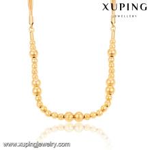 43026 Hot sale simplesmente senhoras finas jóias 18k cor de ouro contas de contas neckalce