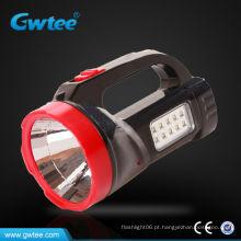 Projetor portátil com luzes laterais, luzes de emergência