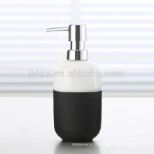 liquid soap dispenser with plastic pump and silicone band
