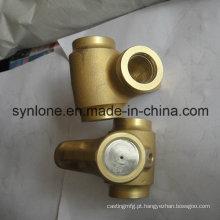 Peças mecânicas da carcaça do bronze / cobre do projeto do desenho do OEM
