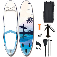 popular 2021 Professional Technology  best EVA Transparent SUP Board Inflatable Water Sport Paddle Board Pump