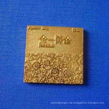 Quadratisches Muster-Medaillen-Abzeichen für Haus-Dekoration (GZHY-BADGE-027)