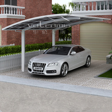 2015 home design strong aluminium canopy carport with solid polycarbonate sheet