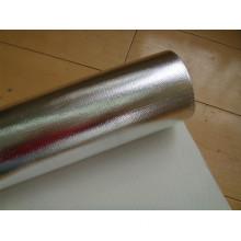 110g Aluminum Foil Fiberglass Cloth / Glass Fibre Fabric