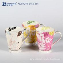 Modische Bone Porzellan Becher Porzellan Kaffeetassen