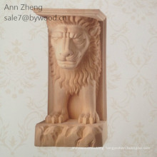 Wood Material customized lion corbel and Carved Technique wooden corbels handcraft carvings lion column