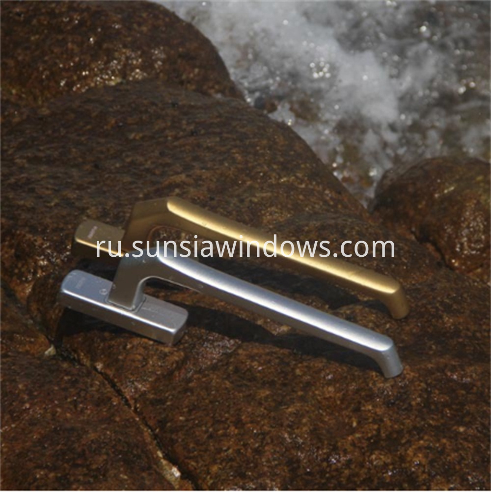 Aluminum side hung door handle, aluminum slide-fold door handle