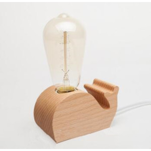 New Design Bedside Dimmable LED Wood Lamp