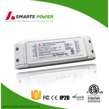 UL listed 12V 6W 500ma plastic IP40 CV traic dimmable led power supply