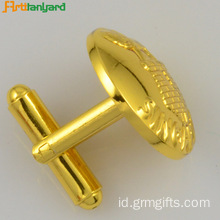 Cutom Gold Plating Kancing Manset Wanita