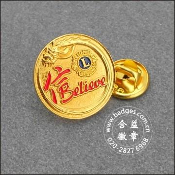 Goupilles pendulaires en or, badge fait sur commande (GZHY-LP-043)