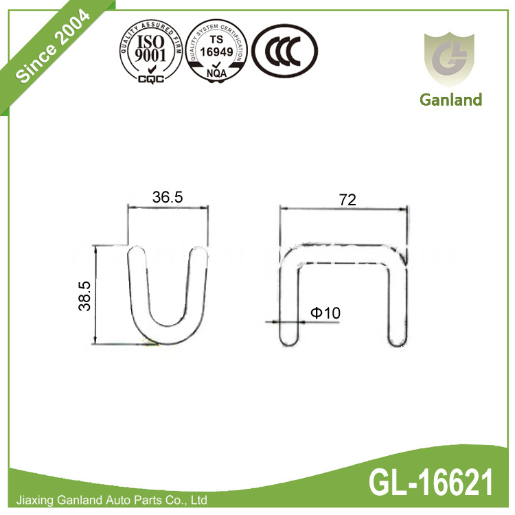 Rave hooks specification GL-16621