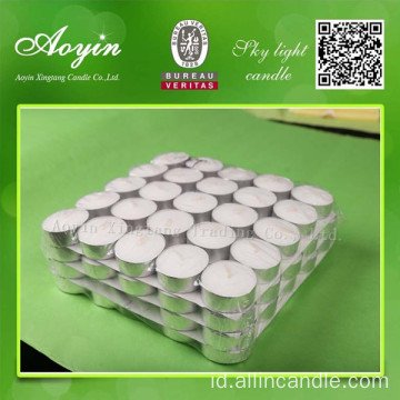 14g teh putih lilin cahaya lilin tealight flameless