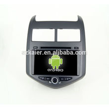 Quad core car dvd player with gps,wifi,BT,mirror link,DVR,SWC for Chevrolet Aveo