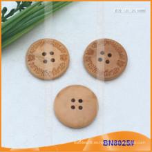 Botones de madera naturales para la prenda BN8025