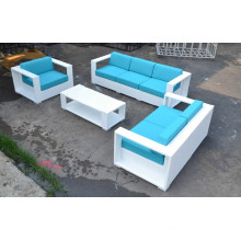 high quality modern outdoor furniture rattan leather sofa set with cushion TF-9031