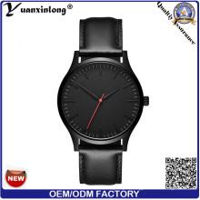 Yxl-131 Hot Sale Mens Luxury Watch Quartz Leather Watches Men Black Dial Vogue Wristwatch
