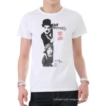 Fashion Screen Printing White Custom Cotton Hot Wholesale Summer Men T Shirt