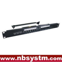 """12 port UTP Cat6 Patch Panel 19"""" 1U, Krone & 110 Dual IDC,with or without back bar"""