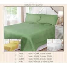 100% Baumwolle oder T / C 50/50 Jacquard Quilt Sets