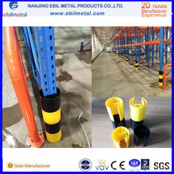 Protetor vertical de plástico popular / protetor de coluna para rack de armazenamento