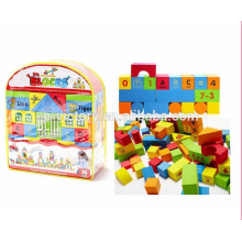 74pcs Soft high quality plastic building blocks