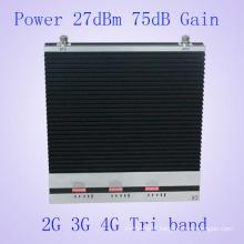 27dBm Tri Bandgsm900MHz & Dcs1800MHz & 3G 2100MHz Téléphone portable Amplificateur de signal de téléphone portable