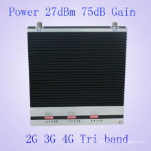 27dBm Tri Bandgsm900MHz & Dcs1800MHz & 3G 2100MHz мобильный телефон усилитель сигнала мобильного телефона