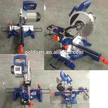 255mm 1800w Motor de indução de longa vida Industrial Sliding Miter Saw Electric Power Aluminum Cut Off Saw Machine