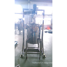 Réservoir de mélange liquide en acier inoxydable avec agitateur